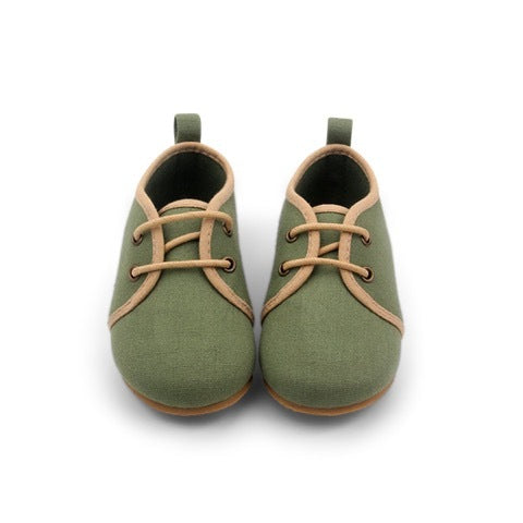 OLIVE OXFORD SHOES