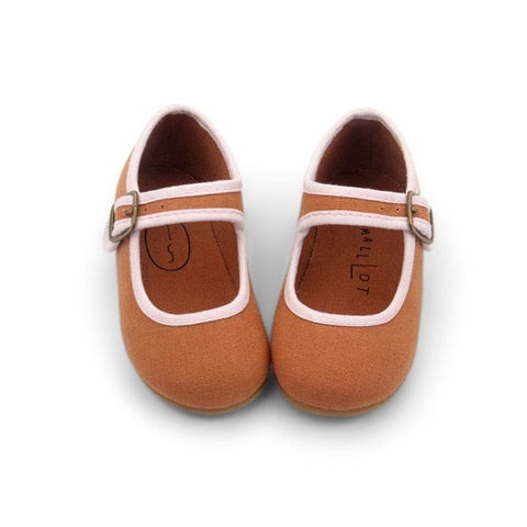 RUST MARY JANE SHOES