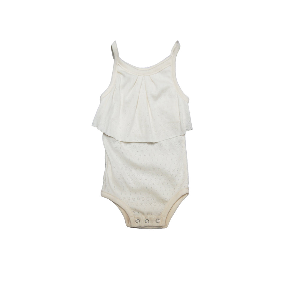 GO GENTLY NATION GO GENTLY NATION ORGANIC POINTELLE BABY ONESIE - SUGARLOAF