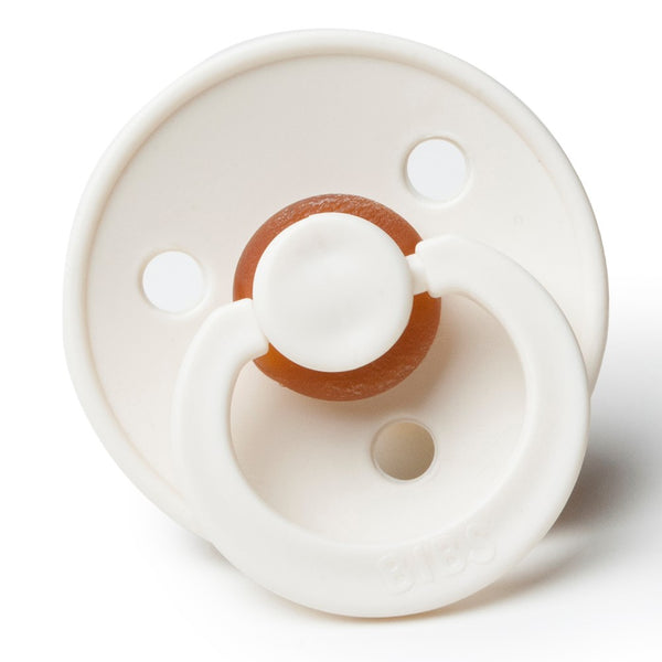 Bibs Pacifiers in Ivory (Pair) - sugarloaf