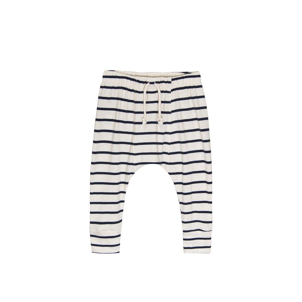 GO GENTLY NATION Go Gently Nation Jersey Harem Pants in navy stripe