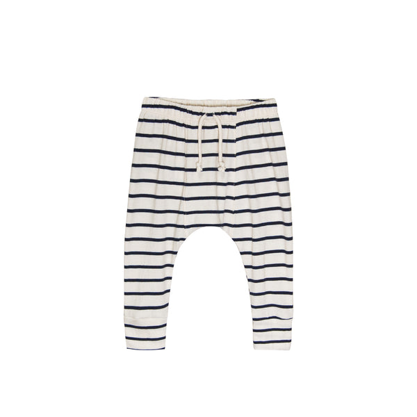 Go Gently Nation Jersey Harem Pants in navy stripe