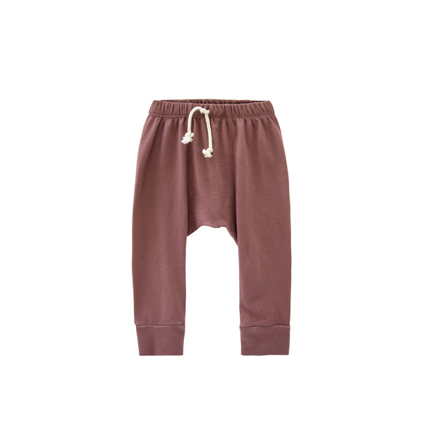 Go Gently nation Jersey Harem Pants in Berry