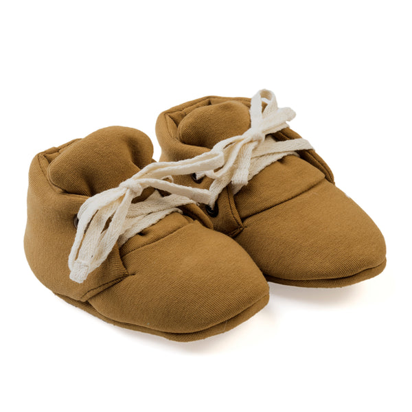 KidWild Organics Organic Baby Booties - Curry