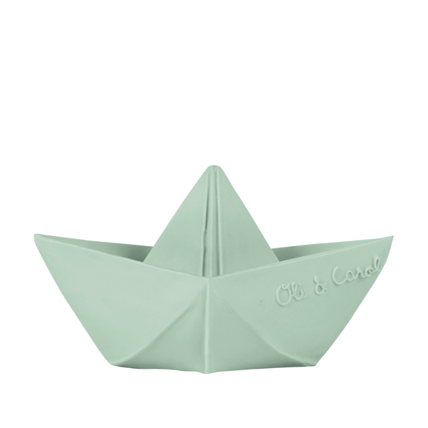 Oli & Carol Origami Boat Bath Toy in Mint
