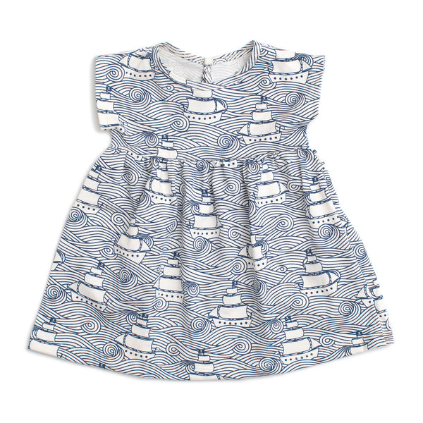 Merano Baby Dress - High Seas Navy