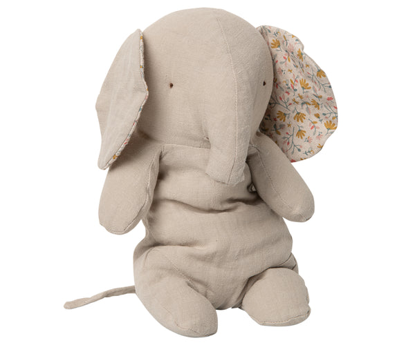 Maileg Safari Friends Elephant Medium in Ash Grey