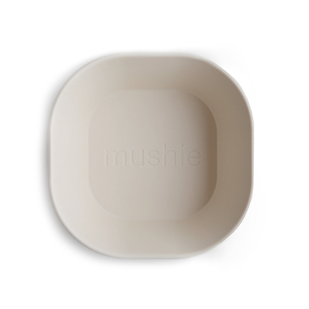 Mushie Mushie Square Dinnerware Bowl In Ivory - Set of 2