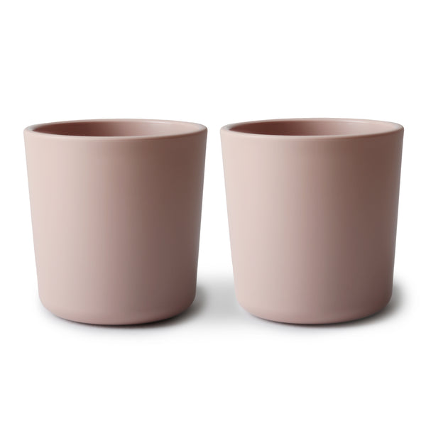 Mushie Dinnerware Cup in Blush, Set of 2