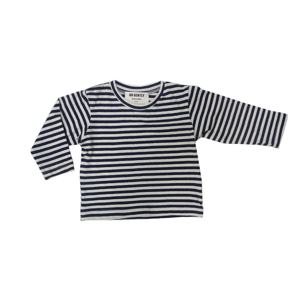 GO GENTLY NATION Go Gently Nation Navy Stripe Tee flat
