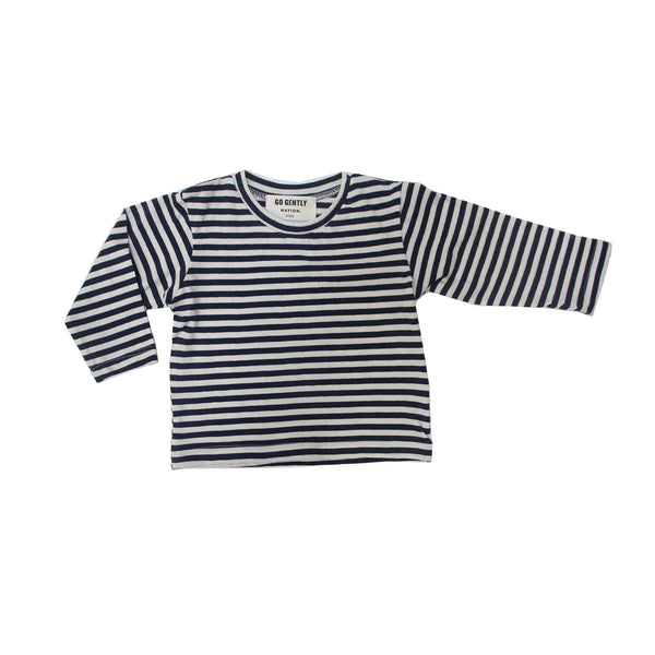 Go Gently Nation Navy Stripe Tee flat