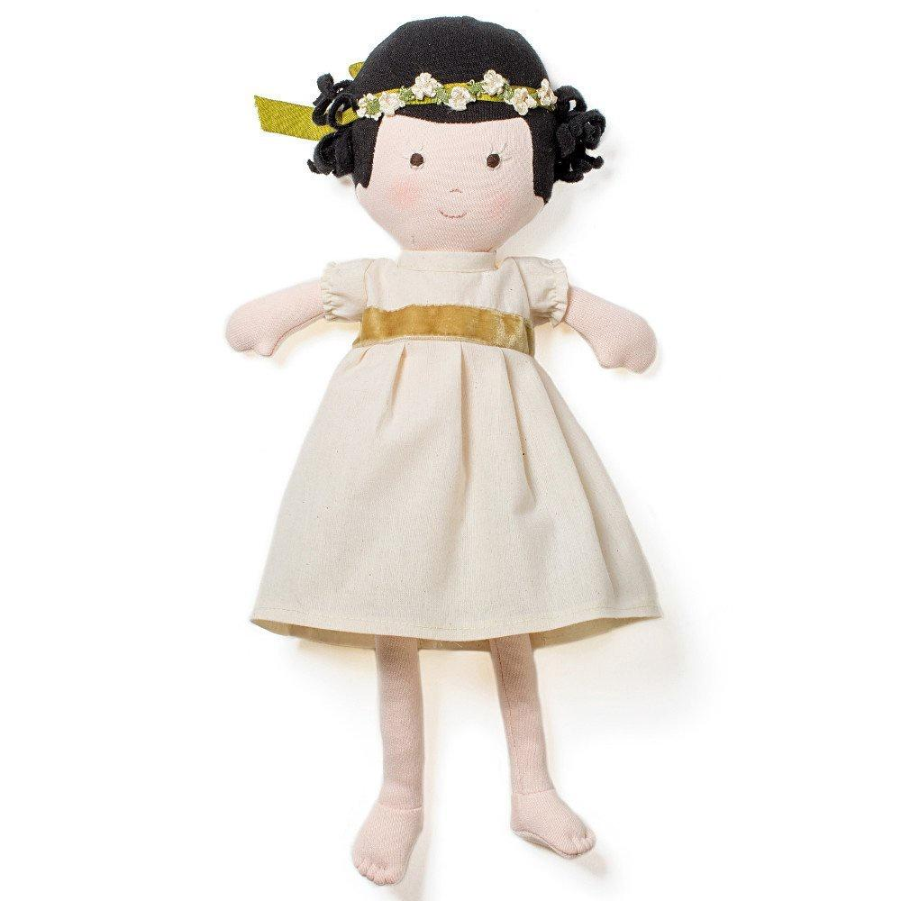 Hazel Village NELL DOLL IN GREEN AND GOLD OUTFIT