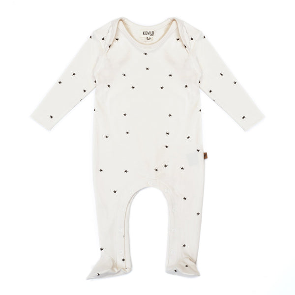 Organic Baby Footie Jumpsuit - Star