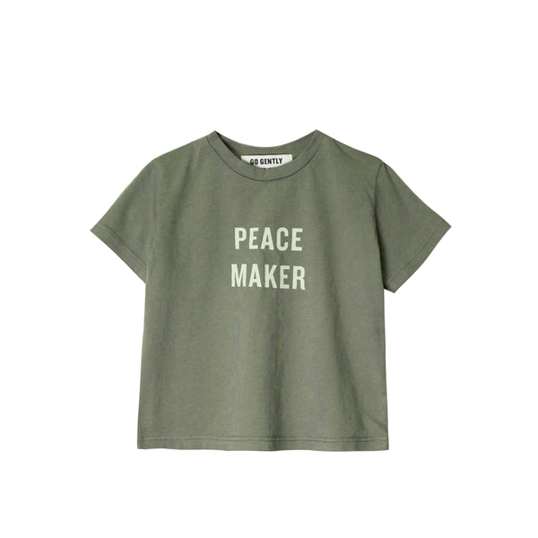 Go Gently Nation Peacemaker Tee in thyme