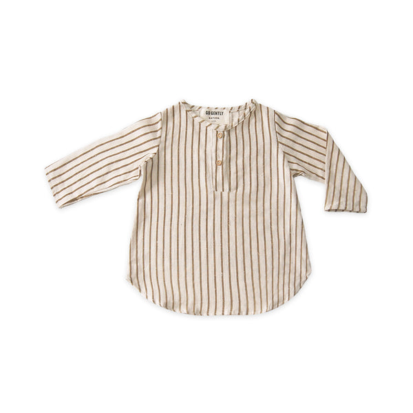 Placket Top in Fennel Stripe - sugarloaf