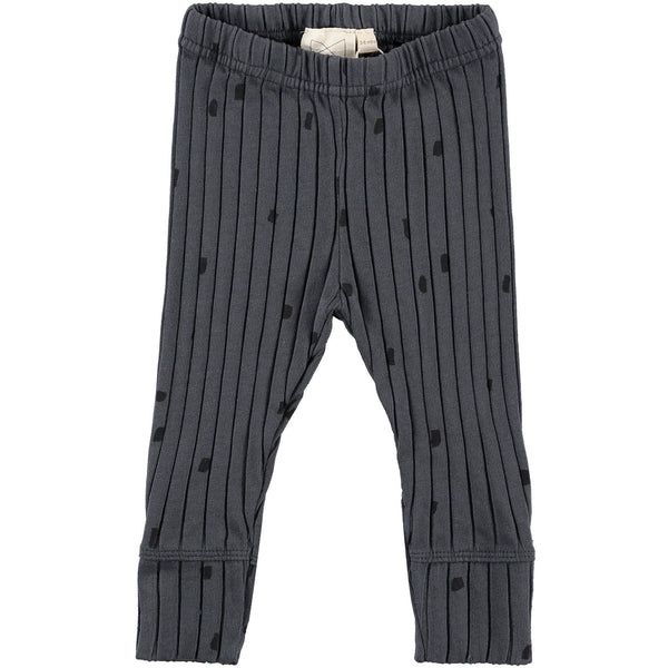 MINI SIBLING CHARCOAL RIB BABY PANTS WITH CONFETTI
