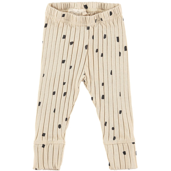MINI SIBLING OATMEAL RIB BABY PANTS WITH CONFETTI