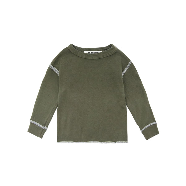 Rib Thermal Shirt in Moss