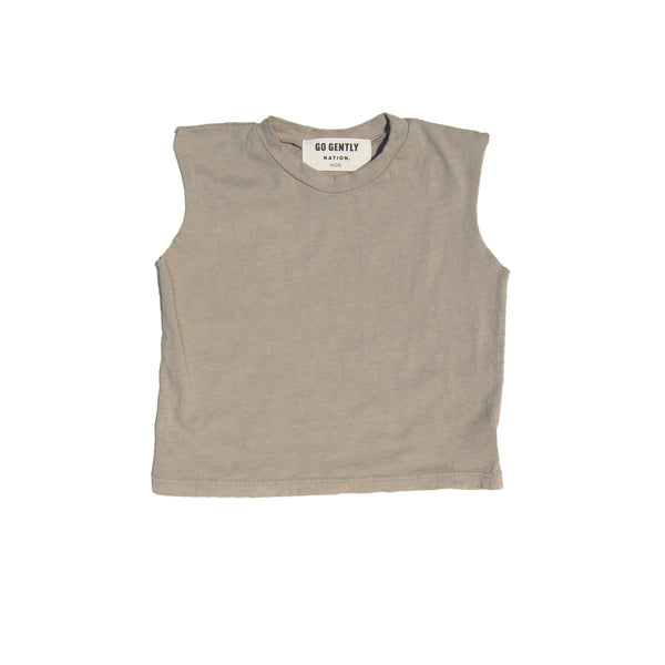GO GENTLY NATION MUSCLE ORGANIC TEE IN EUCALYPTUS - SUGARLOAF