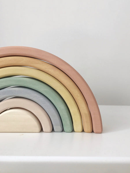 Sabo Concept Wooden Rainbow in Pastel