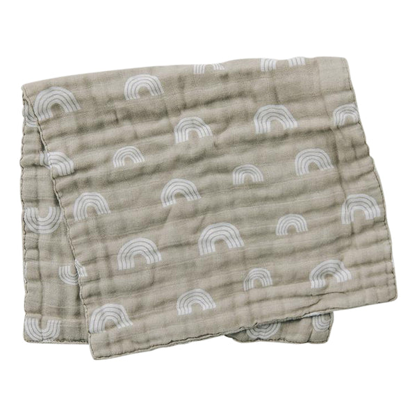 Mebie Baby Sand Rainbow Burp Cloth