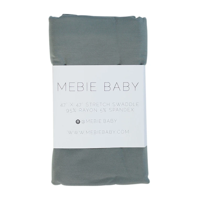 Mebie Baby Mebie Baby Dusty Blue Stretch Swaddle