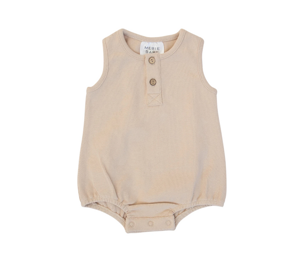 Mebie Baby Oat Button Bubble Romper