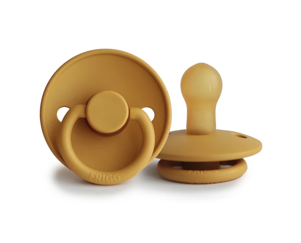 FRIGG Natural Rubber Pacifier in Honey Gold