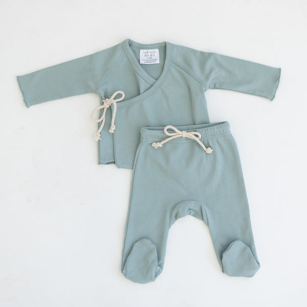 Mebie Baby Sea Layette Set in blue