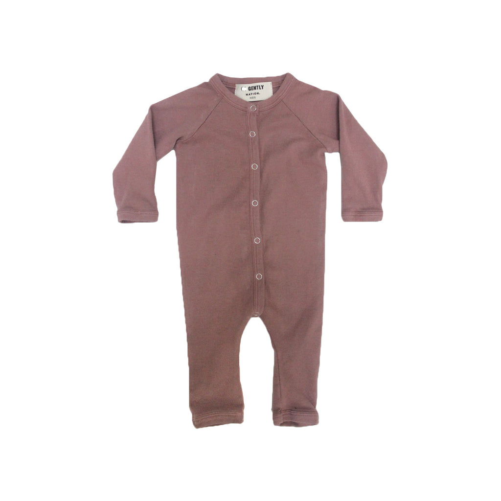 GO GENTLY NATION Go Gently Nation Solid Romper in Cinnamon