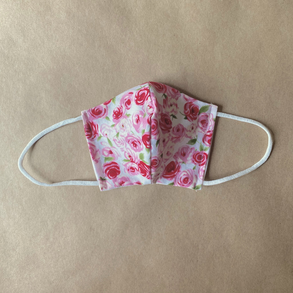 sugarloaf Face Mask for Kids in Little Roses Print