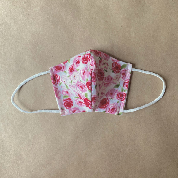 Face Mask for Kids in Little Roses Print