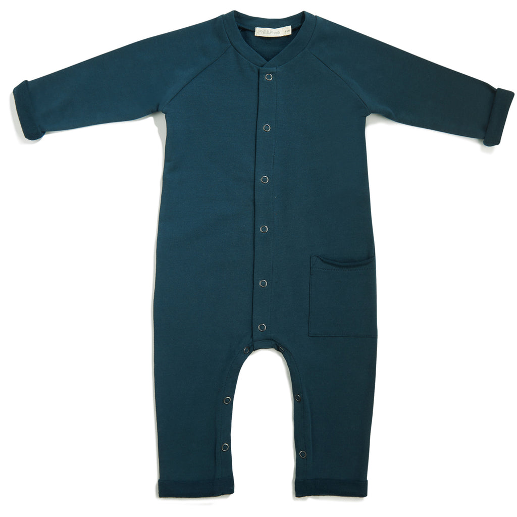 PHIL&PHAE PHIL&PHAE SWEAT JUMPSUIT IN DEEP TEAL