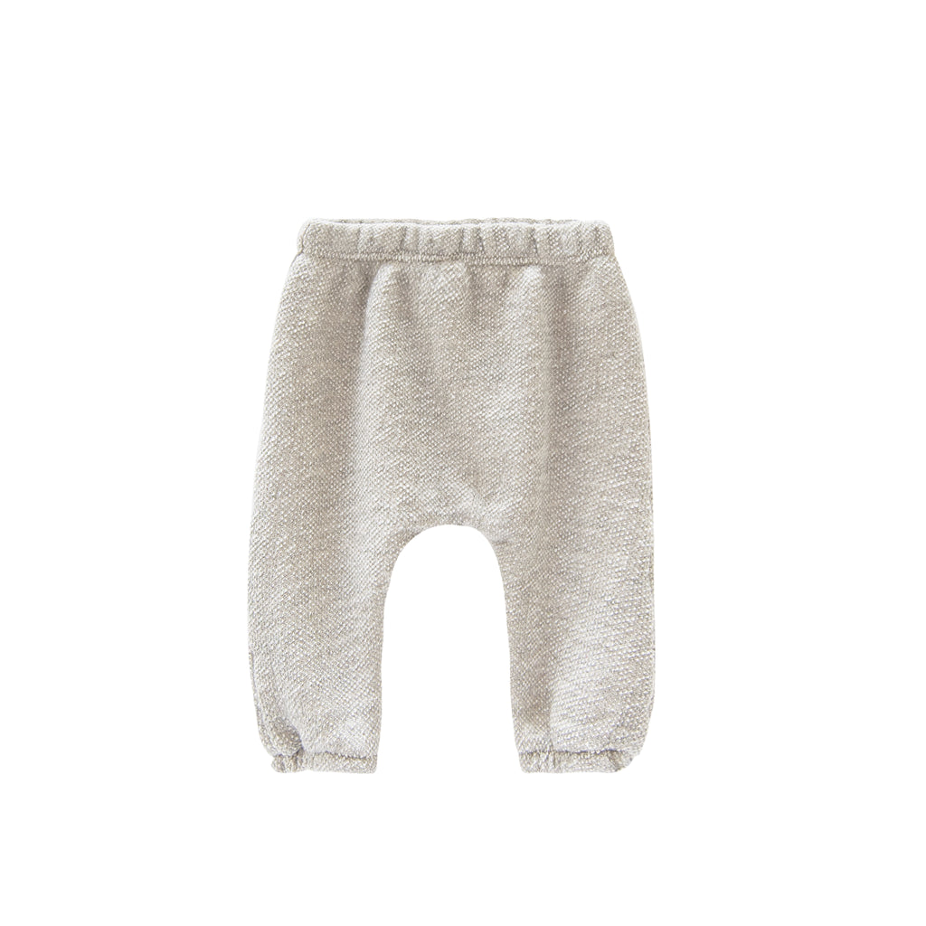 GO GENTLY NATION Go Gently Nation Textured French Terry Baby Pants in Natural