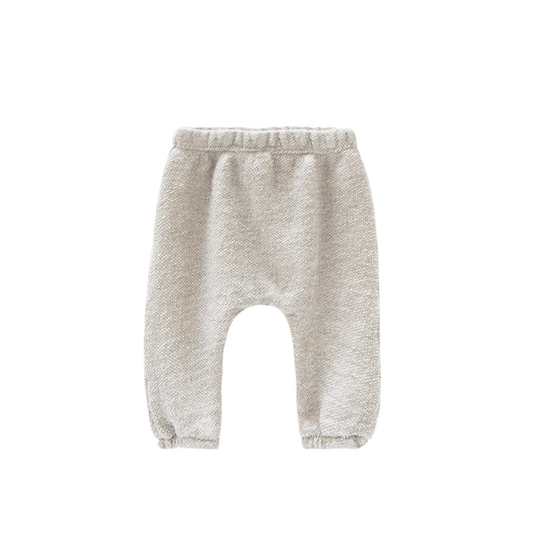 Go Gently Nation Textured French Terry Baby Pants in Natural