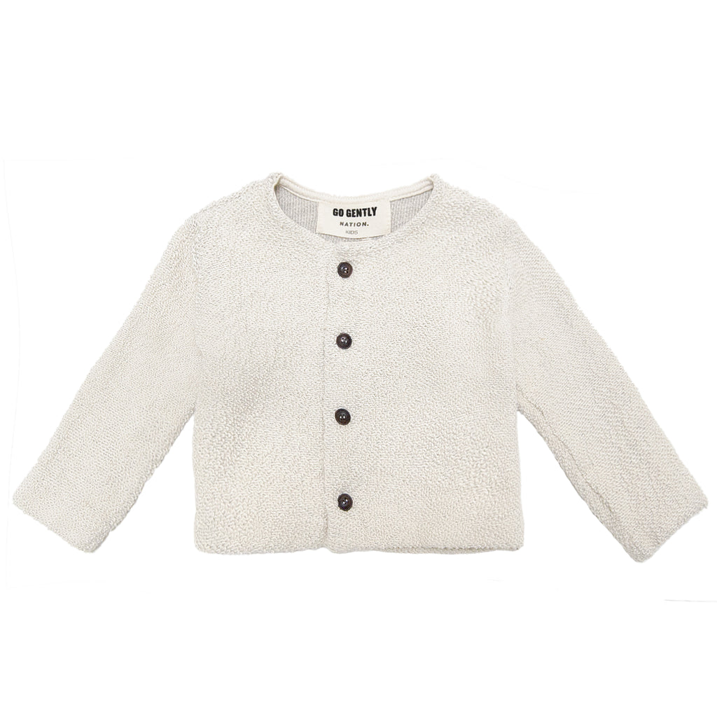 GO GENTLY NATION Go Gently Nation Textured Knit Coat in Natural - flat