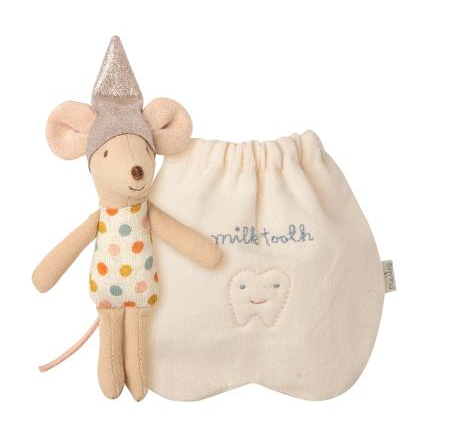 Maileg Tooth Fairy Little Mouse with little bag to store the tooth