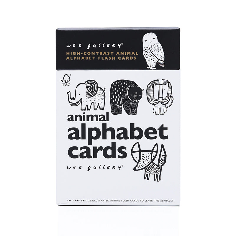 Wee Gallery Wee Gallery Animal Alphabet Cards - Sugarloaf