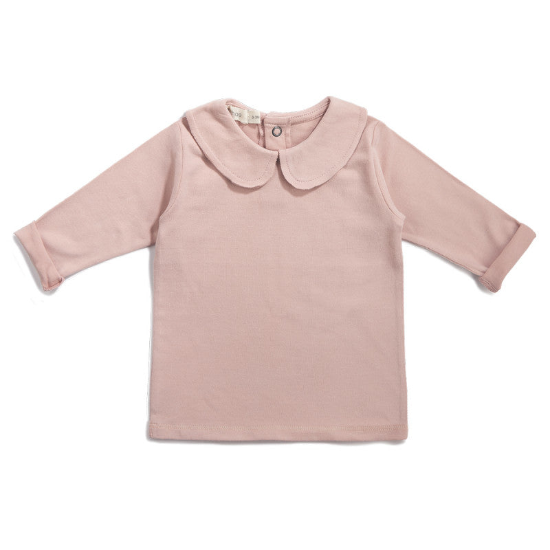PHIL&PHAE PHIL & PHAE BABY COLLAR TEE IN BLUSH