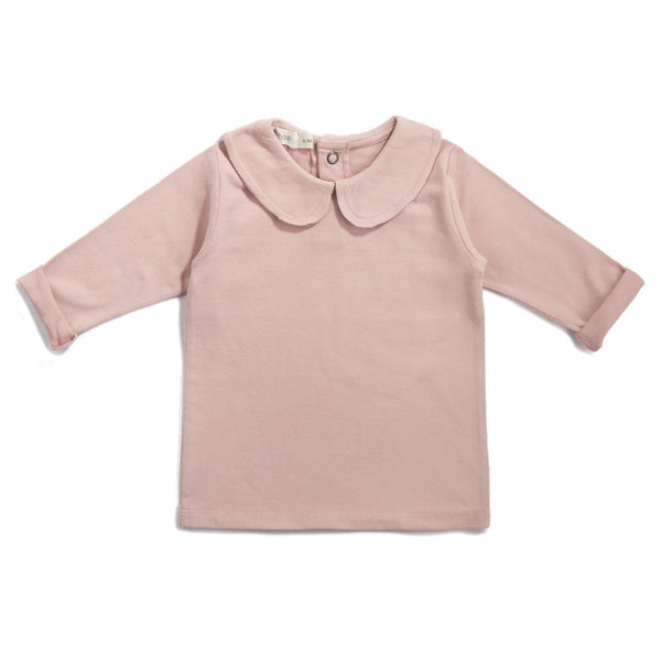 PHIL & PHAE BABY COLLAR TEE IN BLUSH
