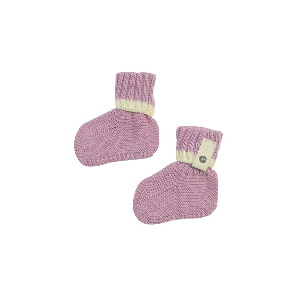 Bayiri Sierra Nevada Baby Booties in Pink