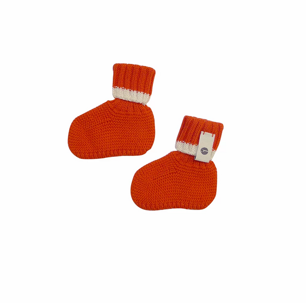 Bayiri Sierra Nevada Baby Booties in Red