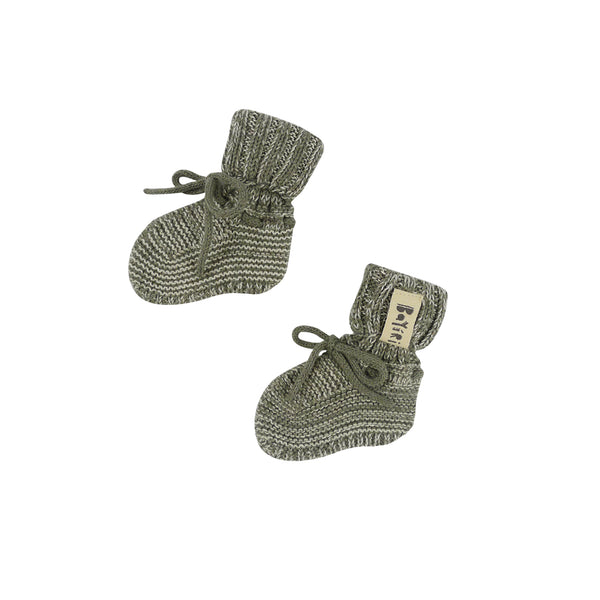 Sloth Baby Booties in Gray