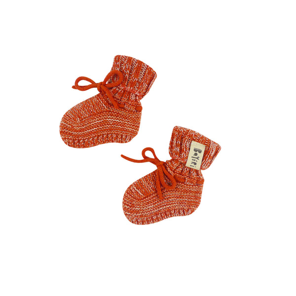 Sloth Baby Booties in Red