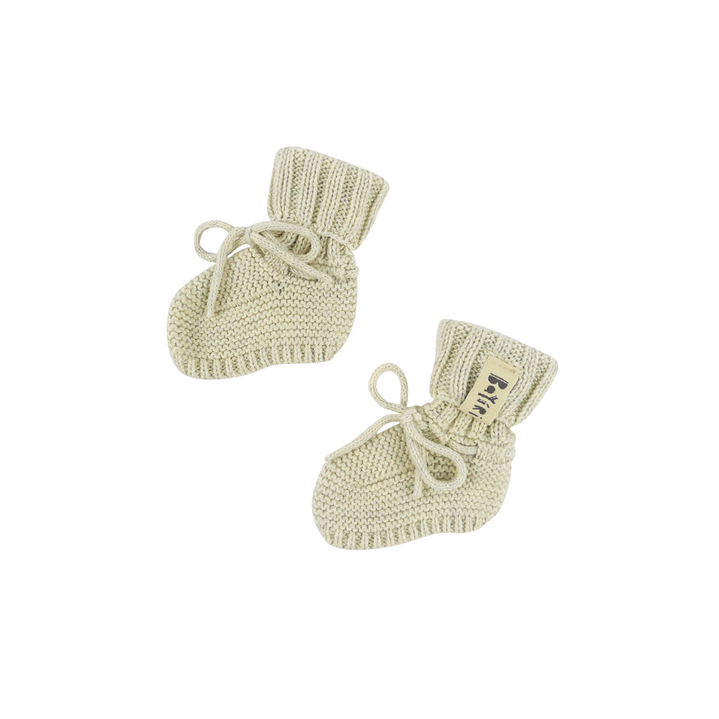 Bayiri Sloth Baby Booties in White