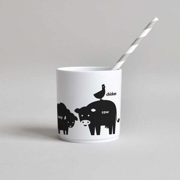 BUDDY AND BEAR BLACK FARM ANIMAL CUP