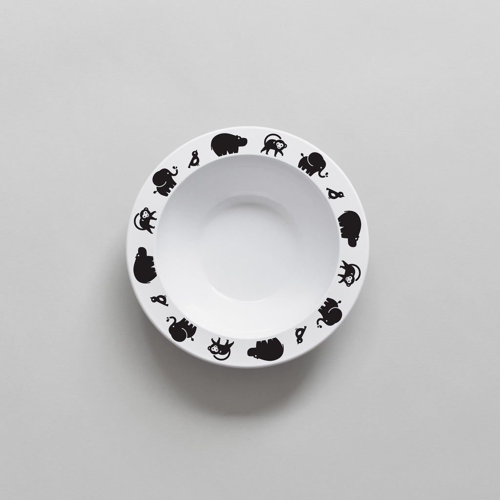 Buddy and Bear BLACK WILD ANIMAL BOWL