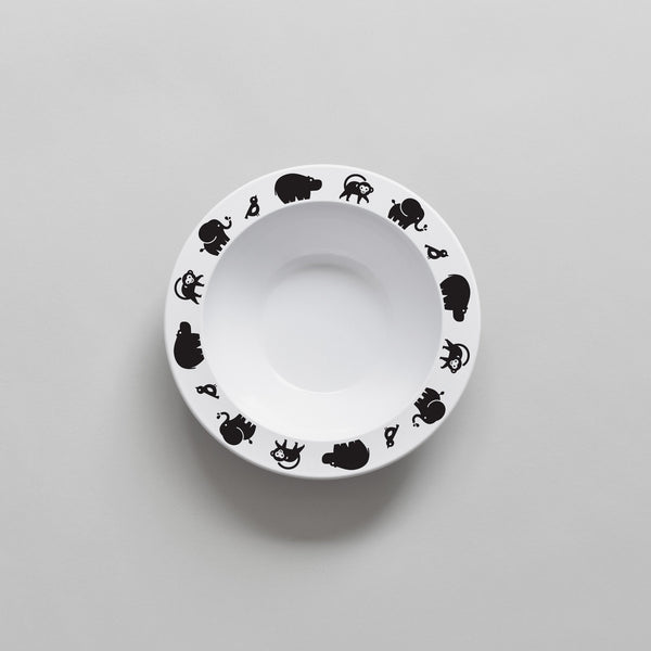 BLACK WILD ANIMAL BOWL