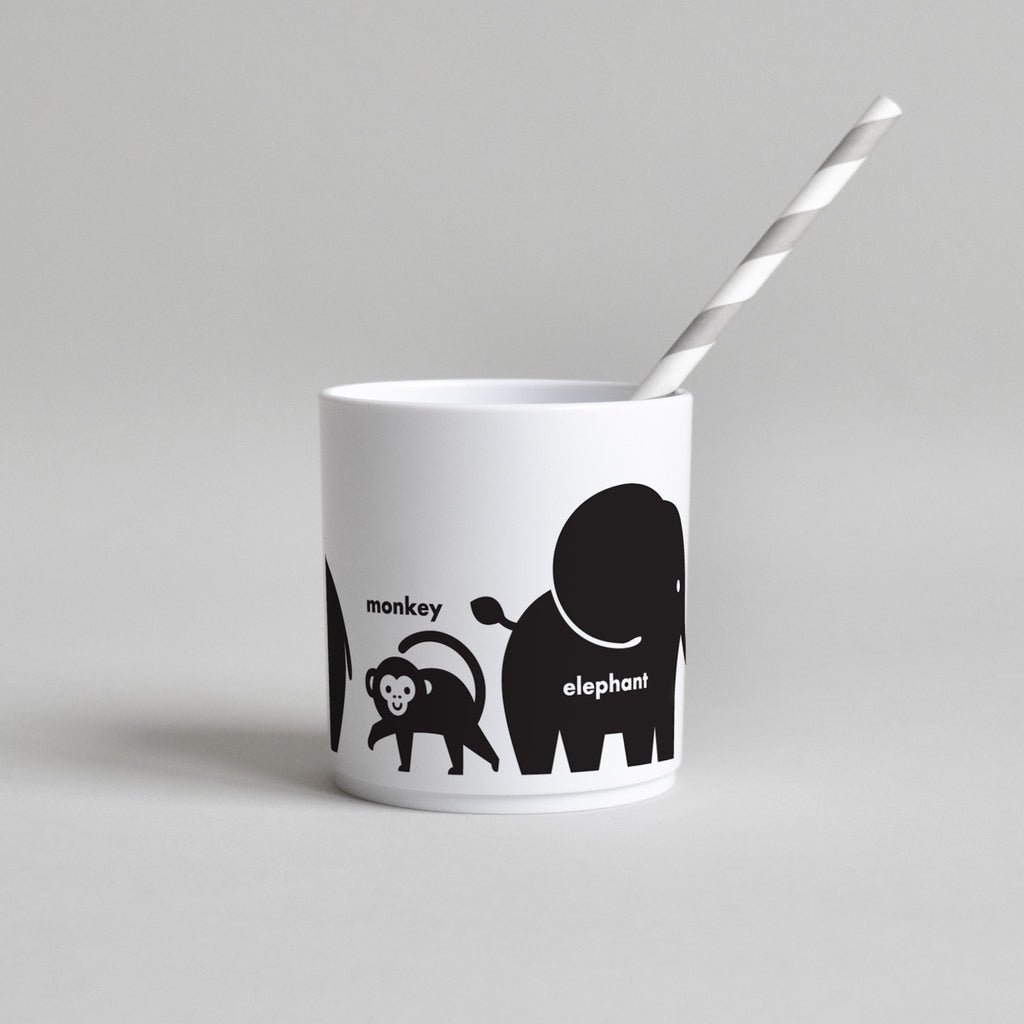 Buddy and Bear BLACK WILD ANIMAL CUP