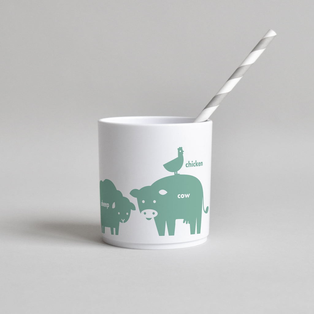 Buddy and Bear GREEN FARM ANIMAL CUP